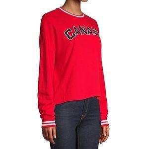 HBC |  Varsity Canada French Terry Crop Sweatshirt